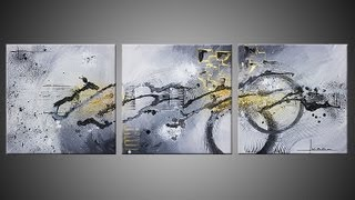 Abstract acrylic painting demo video - Ulex Minor by John Beckley