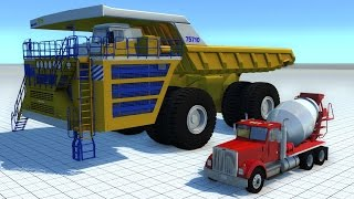 getlinkyoutube.com-BeamNG Mod BELAZ 75710 Crushing Cars HD 60FPS
