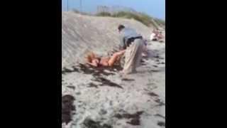 getlinkyoutube.com-Drunk lady resisting arrest on North Topsail Beach