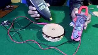 "getlinkyoutube.com-How to Make AC generator ""Permanent magnet alternator"" from Hard disk magnets (English subtitle)"