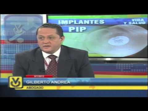 Noticiero Venevision - Ana Alicia Alba Entrevista al Dr. Gilberto Andrea por el Caso Protesis PIP