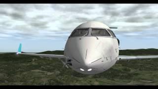 getlinkyoutube.com-MiSO X-Plane CRJ200 Bird strike Emergency Landing...