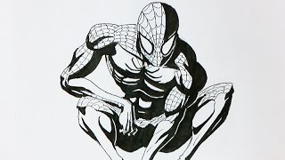 Download video let 39 s draw spider man for Draw with jazza mural