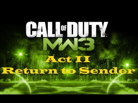 """Call of Duty 8: Modern Warfare 3"", HD walkthrough (Veteran), Act II: Mission 2 - Return to Sender"