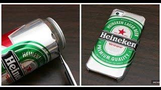 getlinkyoutube.com-Aprende cómo hacer un case de tu cerveza favorita usando la lata ¡Está súper fácil!