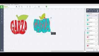 How to create text with in a shape by weld & slice - Cricut Design Space