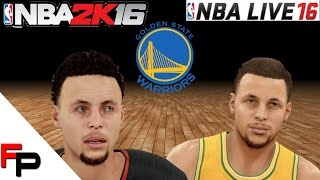 getlinkyoutube.com-NBA 2K16 vs. NBA Live 16 - Golden State Warriors - Player Faces