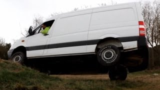 getlinkyoutube.com-Sprinter 4x4 311 CDI Test Offroad Allrad Iglhaut Low range Camper