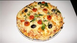 getlinkyoutube.com-Pizza au poulet tomate mozzarella facile (CUISINERAPIDE)