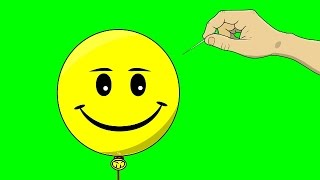 getlinkyoutube.com-Animated Hand Popping Balloon ~ Green Screen