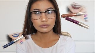 getlinkyoutube.com-COLOURPOP Ultra Matte Liquid Lipsticks | First Impression | Swatches