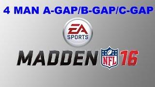 getlinkyoutube.com-Madden 16 TIPS: 4 Man A-Gap/B-Gap/C-Gap Nano Blitz! Madden 16 Defensive Tips