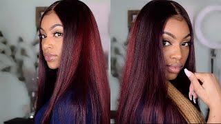 getlinkyoutube.com-Affordable Aliexpress Hair| Ali Grace Brazilian Straight Hair + How I Dye My Frontal