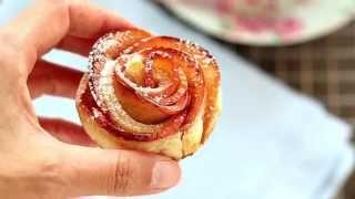 getlinkyoutube.com-Rose di mela con pasta sfoglia - Chiarapassion