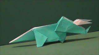 "getlinkyoutube.com-恐竜「トリケラトプス」折り紙Dinosaur ""Triceratops"" origami"