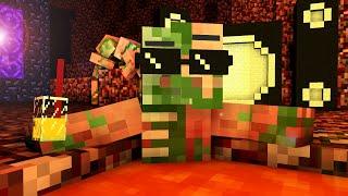 getlinkyoutube.com-Zombie Pigman Life - Craftronix Minecraft Animation