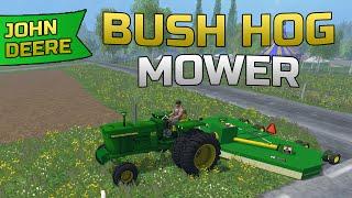 getlinkyoutube.com-Farming Simulator- John Deere Batwing Bush Hog