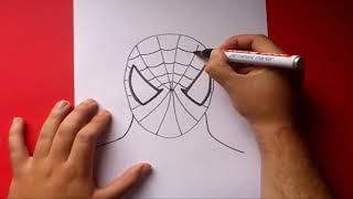 getlinkyoutube.com-Como dibujar a Spiderman paso a paso | How to draw Spiderman