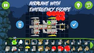 getlinkyoutube.com-Bad Piggies: Airplane with emergency escape