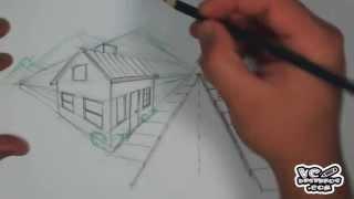 getlinkyoutube.com-Como desenhar um cenário com 2 pontos de fuga