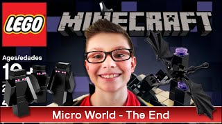 getlinkyoutube.com-LEGO MINECRAFT - THE END -Set 21107 - Family Geek Unboxing Jouet