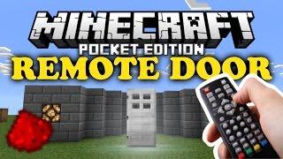 getlinkyoutube.com-✔ Remote Door | MCPE Redstone Tutorial