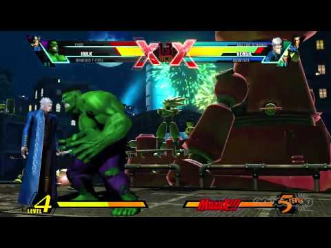 Ultimate Marvel vs. Capcom 3 - Vergil Character Moves Gameplay (PS3, Xbox 360, Vita)