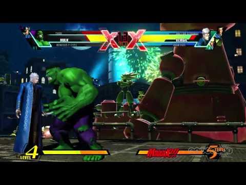 Ultimate Marvel vs. Capcom 3 - Vergil Character Moves Gameplay (PS3, Xbox 360, Vita)
