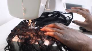 Making a Wig using a Sewing Machine featuring PerfectLocks Hair