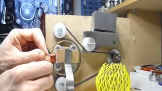 getlinkyoutube.com-Home Toroidal winding machine. Bobinadora casera para toroidales.