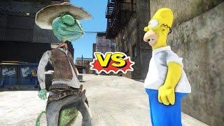 RANGO VS HOMER SIMPSON - GREAT BATTLE - GTA IV