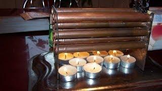 getlinkyoutube.com-Incalzire cu lumanari generator de aer cald .nr .2