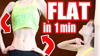getlinkyoutube.com-【1 Min Routine】Get a FLAT Belly & Tiny Waist in ONE Week! + My Diet Secrets♥ くびれ!簡単エクササイズ 腹筋女子