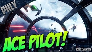 getlinkyoutube.com-TIE FIGHTER ACE! AIR SUPERIORITY - Star Wars Battlefront Gameplay