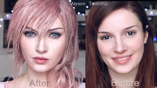 getlinkyoutube.com-Lightning Final Fantasy  Makeup Transformation - Cosplay Tutorial