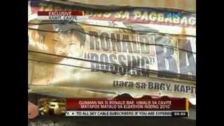24 Oras: Gunman na si Ronald Bae, umalis sa Cavite matapos matalo sa eleksyon noong 2010