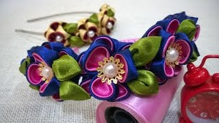 getlinkyoutube.com-D.I.Y. Kanzashi Flower Headband Tutorial | MyInDulzens