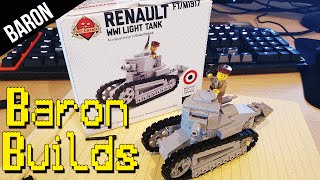 LEGO Renault FT-17 French Tank Speed Build (Baron Builds)