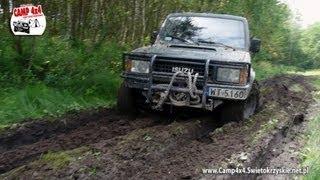 getlinkyoutube.com-CAMP 4x4 Małe Jodło - Przejazd przez błoto  Isuzu Trooper i Opel Frontera Off-Road