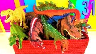 getlinkyoutube.com-20 Favorite Dinosaur Toys Collection T rex Spinosaurus Kids toys