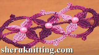 getlinkyoutube.com-Beaded Crochet Lace Tape Tutorial 17 Part 1 of 2 Free Patterns