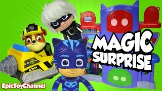 getlinkyoutube.com-SURPRISE TOYS MAGIC at PJ Masks HQ with Paw Patrol, a Disney CARS Toy Surprise & Surprise Eggs