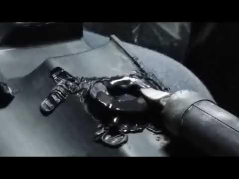 Ремонт клапанной крышки тайота, пайка крышки, пластика