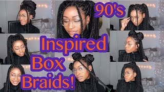 getlinkyoutube.com-90's INSPIRED BOX BRAIDS HAIRSTYLES !