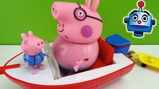 getlinkyoutube.com-Peppa Pig Barco de Vacaciones Holiday Splash Speedboat - Juguetes de Peppa Pig
