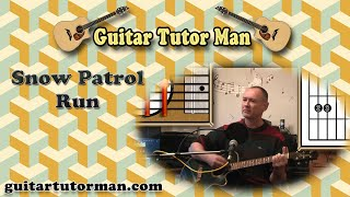 Run - Snow Patrol - Acoustic Guitar Lesson (Easy)