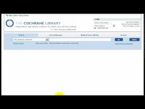 Updated Intro to Cochrane Library