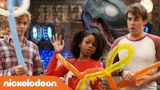 Henry Danger | Jace Norman, Riele Downs & Cooper Barnes Do the Balloon Challenge | Nick