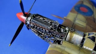 getlinkyoutube.com-How to paint inline engine - Great Guide Plastic Models