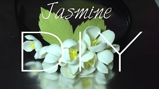 getlinkyoutube.com-Мастер класс. Фоамиран. Ободок своими руками. Цветы. Жасмин /Taya Style